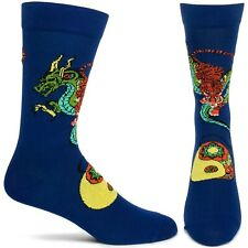 Taoist Tiger, Hidden Dragon Ozone Dress Crew Socks Navy Blue Men 10-13 Fashion