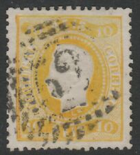 Portugal - 1867, 10r Yellow - Used - SG 54