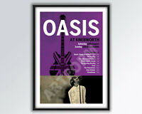 OASIS AT KNEBWORTH Reimagined Poster A3 size.
