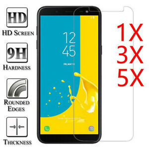 3/5Pcs Tempered Glass Screen Protector For Samsung Galaxy J7 J5 J3 A5 A6 A7 A8