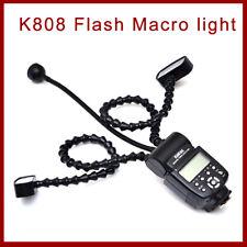 K-808 Universal Flash Macro Light  with Dual Light LED for DSLR Canon Sony Nikon