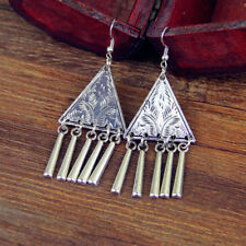 Triangle with Tassels Fringe E0313O Earring Ethnoschmuck Asian Style