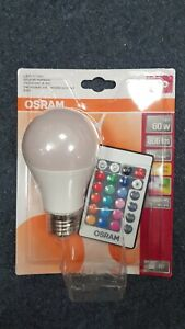 9w OSRAM LED STAR Colour changing GLS A60 lightbulb RGBW Remote Control Dimmable