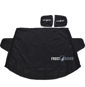 Black Delk FrostGuard Protective Windshield Cover & Wiper & Wing Mirror Covers
