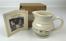 Longaberger Pottery Creamer Cream Pitcher 30686 Blue - New