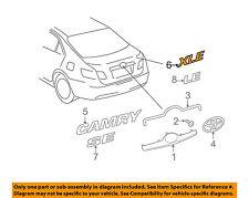 TOYOTA OEM 07-11 Camry Trunk Lid-Emblem Badge Nameplate 7544306190