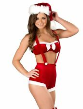 NEW! Roma HOLIDAY JOY S/M Sexy Women's Christmas Mrs. Claus Shorts Costume C166