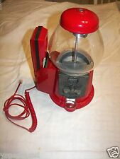 BUBBLE GUM MACHINE WITH TELEPHONE RARE UNIQUE VINTAGE CAROUSEL - GREAT GIFT IDEA