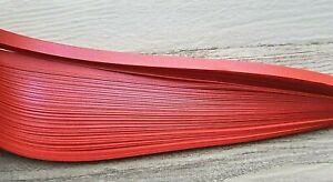 100 pearlescent / metallic quilling paper strips in red in 3mm,5mm,10mm wide