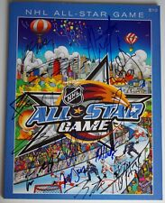JSA CERTIFIED SIGNED 2008 NHL ALL STAR PROGRAM 14 SIGNATURES