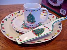 "CHRISTMAS SERVING SET Plates, Cake Plate, Mugs,.. ""My Christmas"" Dishes NEW! NIB"