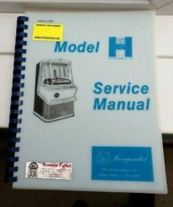 AMI H JUKEBOX MANUAL COVERS ALL VERSIONS slight water damage