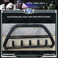 FITS CHRYSLER VOYAGER BLACK BULL BAR AXLE NUDGE PUSH GRILL A-BAR 60mm 2003-2007