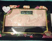 Betsey Johnson Oversized Blush Logo Patent Travel Wallet Wristlet Clutch NWT