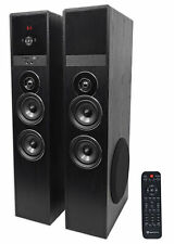 "Tower Speaker Home Theater System+8"" Sub For Samsung Q7C Television TV-Black"