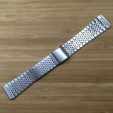 Vintage Stainless Steel Watch Bracelet. . 18mm End Links.