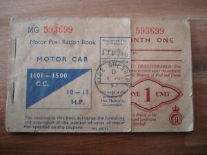 Suez Crisis (1957) British Petroleum MG Ration Stamp Book stamped Hyde Cheshire