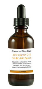 30% Vitamin C+E Ferulic Acid Serum,Skin Brighten Age & Sun Damage Wrinkle 2oz