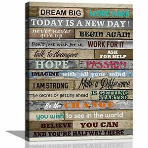 Inspirational Wall Art Motivational Poster Quotes Office Wall Decor for Living A