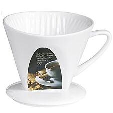 Kaffeefilter, Porzellan, 13x11,5 cm, weiß Tassenfilter Filterkaffee Kannenfilter