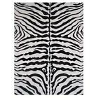 LA Rug Fun Rugs FT-186 5178 Fun Time Zebra Skin Accent Rug - White
