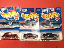 Set of 3-1999 Hot Wheels First Editions: '36 CORD, '99 MUSTANG, '70 CHEVELLE NEW