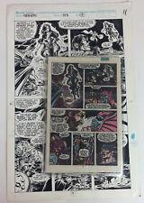 RIK LEVINS ORIGINAL COMIC ART PANEL AVENGERS MARVEL 323 1990 w COMICS