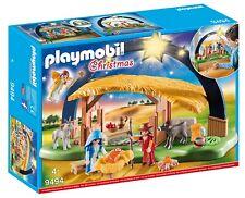 Playmobil Christmas Illuminating Nativity Manger Kids Play 9494 NEW
