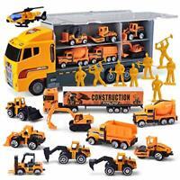 JOYIN Toddler 11 in 1 Mini Die-cast Construction Truck & Vehicle Toy Set