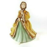 Royal Doulton Figurine Rachel 1980 HN 2919 Gold Green Bone China England