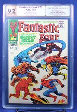 FANTASTIC FOUR #73 (Marvel) PGX 9.2 NM- Near Mint Minus - signed STAN LEE! +CGC!