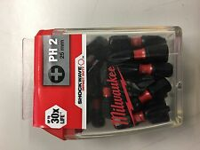 25 x Milwaukee PH2 Shockwave Impact Screw Driver Screwdriver Bits 4932430853