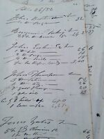 Vntg Ledger Paper Historical  Maine Ship Builder 1852 Unique Lt Blue Paper.