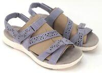 Earth Origins Suede Adjustable Sport Sandals Lavender Westfield Wendy Women 7.5W