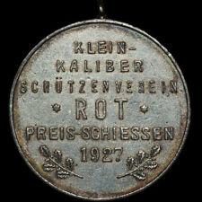 SCHÜTZEN: Medaille 1927. KLEINKALIBER-SCHÜTZENVEREIN ROT / BADEN-WÜRTTEMBERG (?)