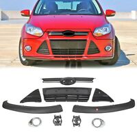 For 2012-2014 FORD FOCUS Complete Front Bumper Grille Cover Fog Lights Assembly