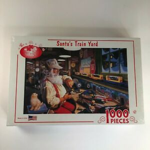 Santa's Train Yard 1000 Piece Jigsaw Puzzle. By Serendipity, Factory Sealed