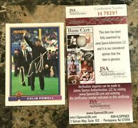 Colin Powell Signed 1991 Bowman #533 Former Sec State - 4 Star General - JSA