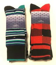 New 8 Pairs Tommy Hilfiger Combed Cotton Dress Socks Mutli Shoe Size 7 - 12
