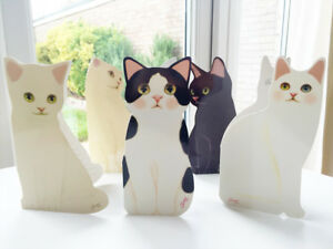 Standing Decorative Cute CAT Kitten DOG GREETINGS Pop Up CARD Happy Birthday