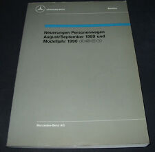 Werkstatthandbuch Mercedes W 124 126 S-Klasse R 129 SL 201 190er Neuerungen 1989