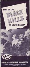 1958 AAA Map Of The Black Hills Brochure