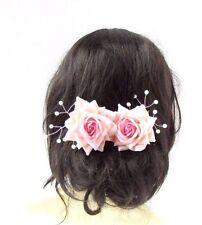 2x Blush Rose Pâle Ivoire Rose Fleur De Vigne Épingles À Cheveux Bridal Perle