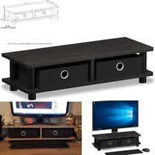 Modern Coffee TV Stand Table Small Wood End Monitor Living Room Furniture Black