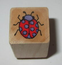 Ladybug Rubber Stamp Insects Wood Mounted Mini Bugs Spots #2