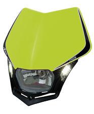 Mascherina Faro Anteriore Universale Moto Rtech V-face LED Giallo Fluo Headlight