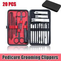 20pcs Manicure Set Nail Care Kit Clipper Earpick Grooming Pedicure kit Men Women