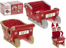 1 x NAUGHTY ELF Polystone SLEIGH Christmas DECORATION, 1 Selected randomly!