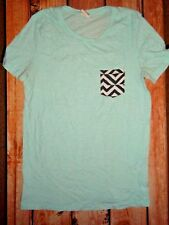 VICTORIA'S SECRET PINK BLUE TEE SHIRT TOP WOMENS SIZE SMALL