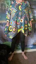TUNIC DRESS FUNKY HIPPY BEACH PONCHO FESTIVAL HOLIDAY BOHO SD54